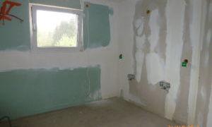 Rénovation salle de bain - pose placo